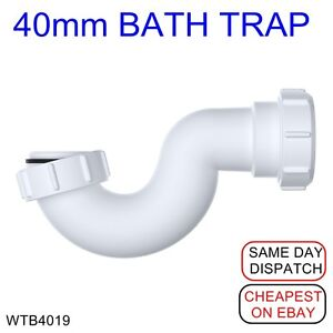 Viva Shallow Bath U Bend P Trap Waste 40mm (1½