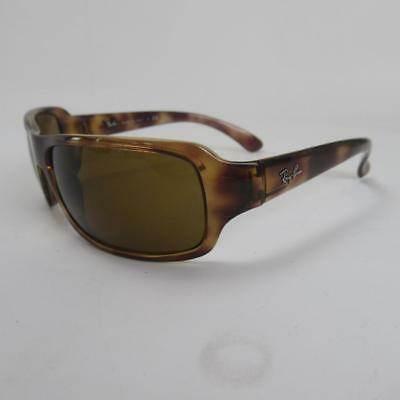 Ray-Ban RB4075 Unisex Brown Polarised Sunglasses with Deep Tortoise Shell Frame