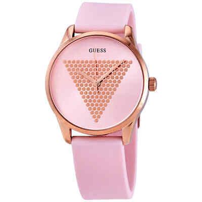 Guess Pink Sunray Dial Ladies Quartz Watch W1227L4