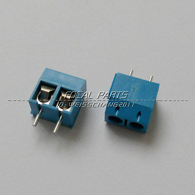 40pcs Kf301-2p 2 Pin Plug-in Screw Terminal Block Connector 5.08mm Pitch M211