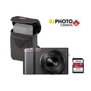 Panasonic Lumix ZS100 Black Friday Kit TOSHIBA 64GB U3 CARD, ROOTS CASE