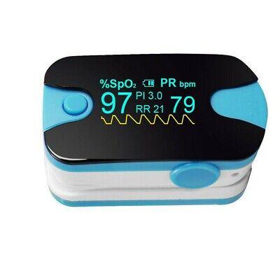 Oled Finger Tip Pulse Oximeter Spo2 Pr Pi Respiration Rate Monitor Meter Ce Fda