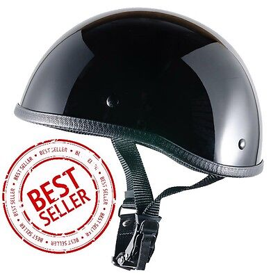 Crazy Al's WORLD'S SMALLEST LIGHTEST SOA Style DOT Gloss Black Half Helmet   ()