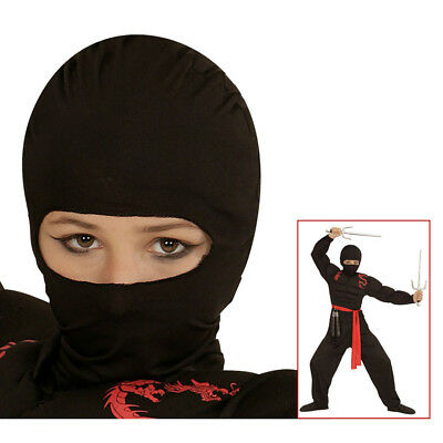 KINDER NINJA MASKE Karneval Sturmhaube Einbrecher Polizist SEK Kostüm Fest (Einbrecher Kostüm Maske)