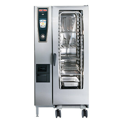 Rational Model 201 A218106.12 Electric Combi Oven With Twenty Half Size Sheet P