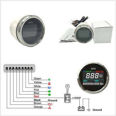 2 52MM LCD MULTI INDICATORS MOTORCYCLES LCD GPS SPEEDOMETER MPH KM