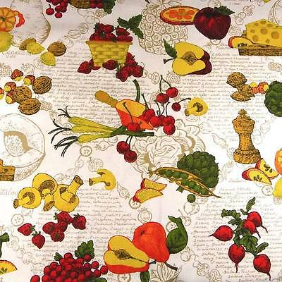 Cotton, Lightweight Canvas by House & Home, Vegetable Print, Per 1/2 Yd Lightweight Printed Cotton