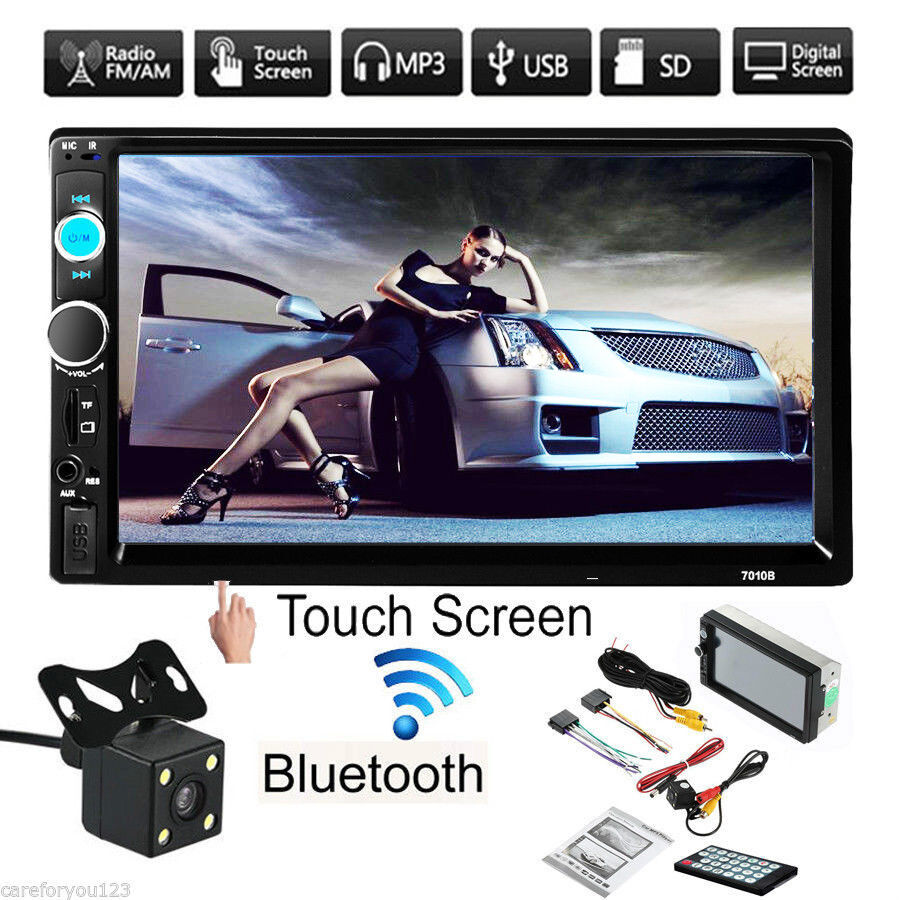 7'' Car Stereo Radio MP5 Player Double 2 Din In Dash USB FM Bluetooth