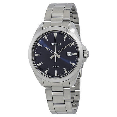 Seiko Blue Dial Stainless Steel Ladies Watch SUR207