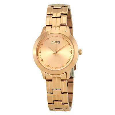 Guess Chelsea Rose Dial Rose Gold PVD Ladies Watch W0989L3 (Guess Rose Gold Watch)