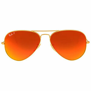 1d0884afd2a71 Ray-Ban Aviator Flash Sunglasses RB3025 112 4D 58-14 Orange Flash ...