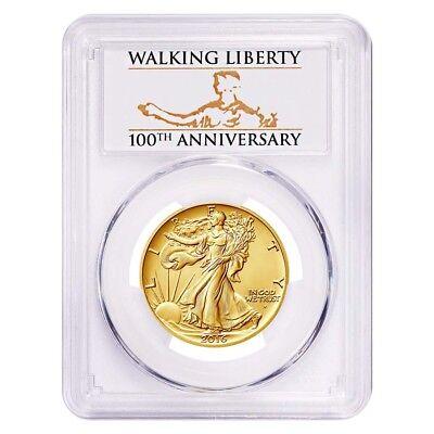 2016 1/2 oz Walking Liberty Half Dollar Centennial Gold Coin PCGS SP 69 First