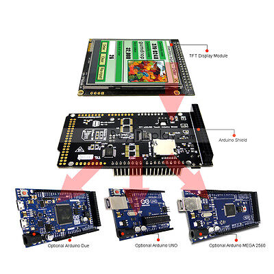 2.8 Inch Tft Lcd Resistive Touch Shield For Arduino Duemega 2560uno Wlibrary