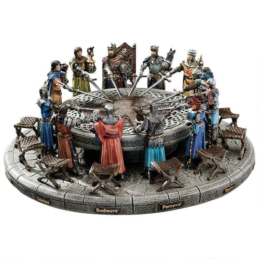 king arthur the knights of the round table sculpture
