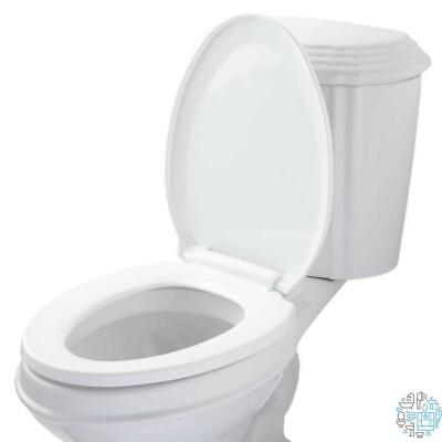 Universal Soft Closing Toilet Seat White WC Slow Close Easy Clean Quick to FitTR