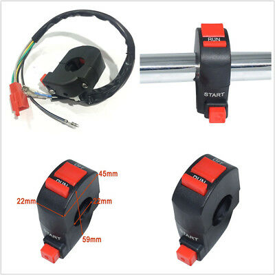 DC12V10A MOTORCYCLE SCOOTERS ATV 78 22MM HANDLEBAR IGNITION KILL ST