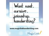 Handwriting tutor London, Learn neat, cursive, joined-up handwriting for primary + secondary pupils
