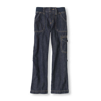 THE CHILDREN'S PLACE GIRLS BLUE DENIM ELASTIC WAIST CARGO LO