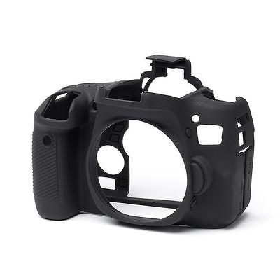 EasyCover Silicone Skin Case Cover Canon EOS 750D Black + Screen Protector