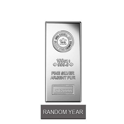 Купить 100 oz Royal Canadian Mint (RCM) .9999 Fine Silver Bar