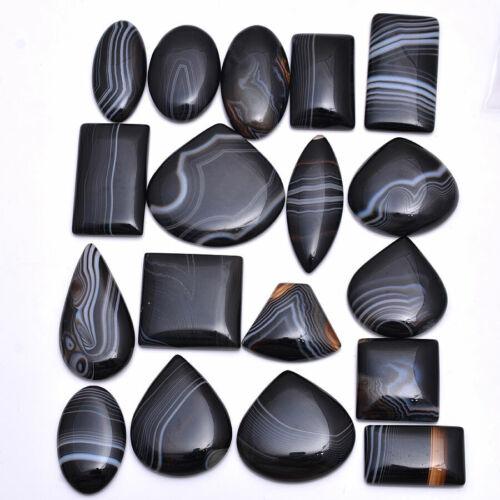 1064 Cts Natural Onyx Designer Untreated Cabochon Loose Gemstones Lot ~26mm-49mm