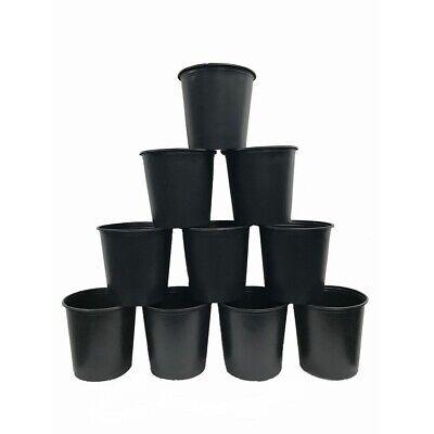 5 GALLON NURSERY POTS Plastic Outdoor Flower Garden Vegetable Plant Pot 10-PACK 5 Gallon Nursery Pot