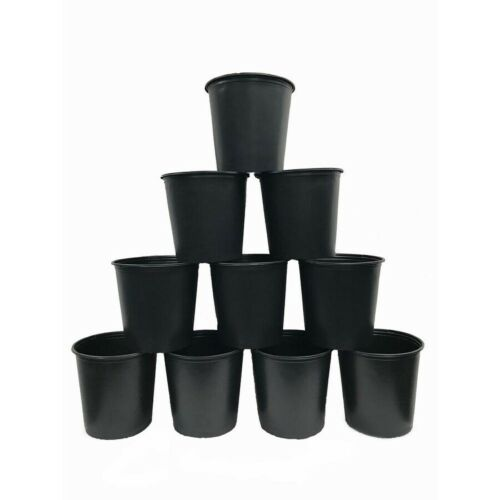 5 GALLON NURSERY POTS Plastic Outdoor Flower Garden Vegetable Plant Pot 10-PACK