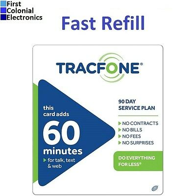 Tracfone  19 99 Refill    60 Minutes   90 Days  Over 1200 Sold  Fast   Right