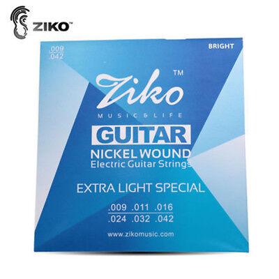 2 Juegos de Cuerdas Ziko para Guitarra Eléctrica DN-009 (09-42) NIKEL