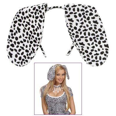 DALMATINER OHREN HAARREIF Karneval Fasching Party Tier Hund Kostüm Zubehör  - Dalmatiner Kostüm Ohren