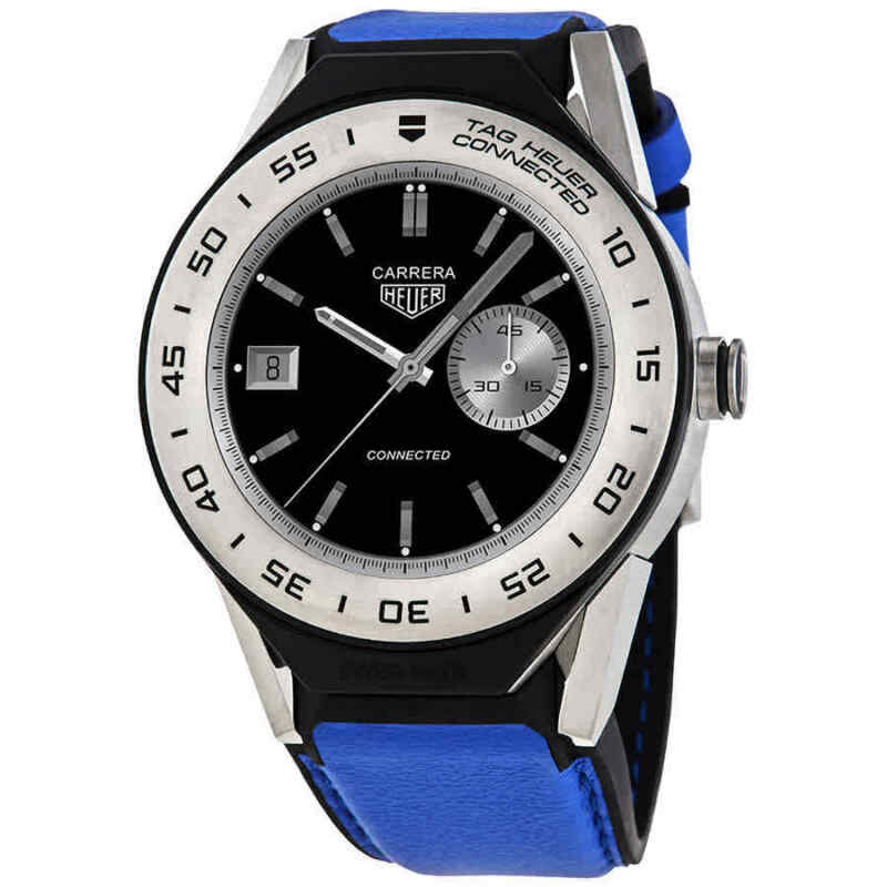 Tag-Heuer-Connected-Modular-Chronograph-Blue-Leather-Smart-Watch