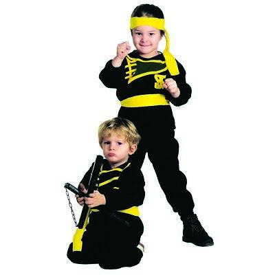 KINDER NINJAKOSTÜM Karneval Kleinkinder Jungen Asien Japaner Ninja - Ninja Kleinkind Kostüm