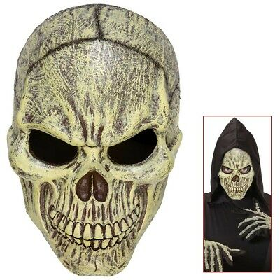 TOTENKOPF MASKE # Halloween Horror Sensenmann Skelett Zombie Kostüm Party 05393