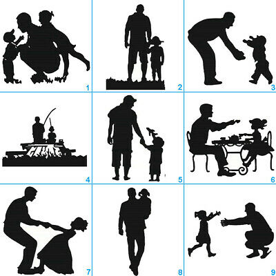 Father's Day Metal Cutting Dies Stencil DIY Scrapbooking Album Paper Card Craft - Father's Day Diy