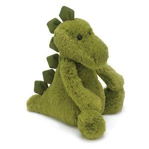 Jellycat Bashful Green Dino Medium 31cm Super Soft Plush Dinosaur Toy NEW