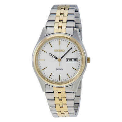 Seiko Solar White Dial Men's Watch SNE032