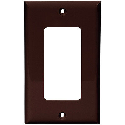 Decora Style Wall - (10 pc) NEW Decorator 1-Gang Wall Plate Cover Brown Decora Style Outlet Lexan