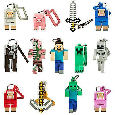 Série 1 Minecraft 3D Porte-clés sac ceinture cintres mine craft figurines jouets