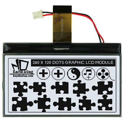 Serial Spi 240x120 Graphic Lcd Cog Display Connector Fpc Optional Touch Screen