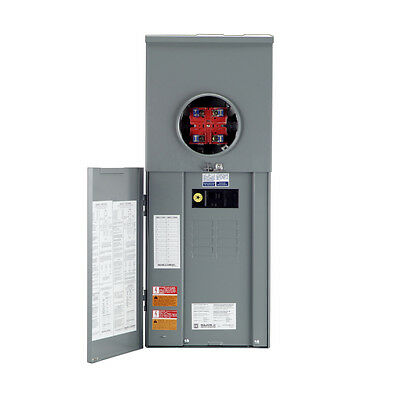 Square D 200-amp Main Breaker Load Center Panel Meter 16-circuit 8-space New