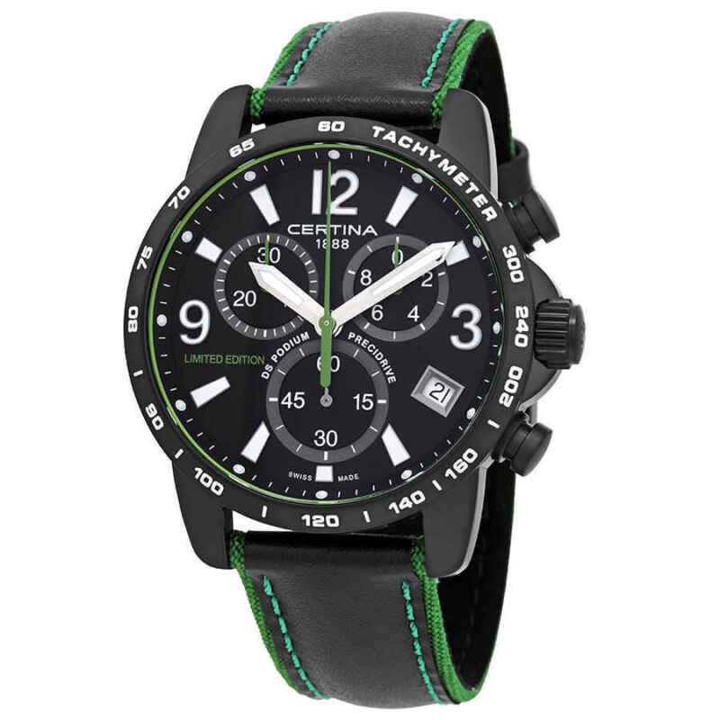 Certina DS Podium Chronograph Black Dial Men Limited Edition Watch