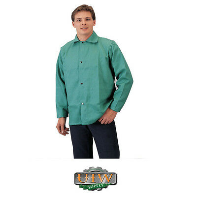 Welding Jacket 4xl Xxxxl - Tillman Green 9oz Fr Cotton 6230