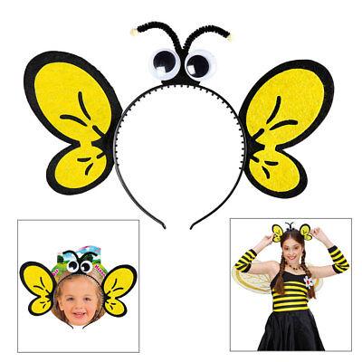 BIENEN HAARREIF Insekten Bee Bienchen Flügel Fühler Augen Reif Kostüm Party - Biene Flügel Fühler Kostüm
