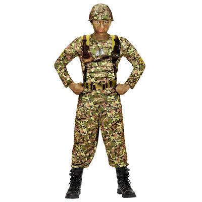 Armee Kinder Kostüme (SOLDAT KOSTÜM KINDER Karneval Fasching Armee Uniform Tarnanzug Agent Jungen 0390)