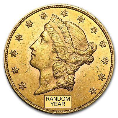 $20 Liberty Gold Double Eagle AU (Random Year)  - SKU #132973