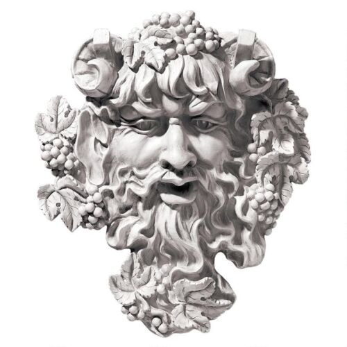 "Bacchus 12""H Roman Greenman God of Woods Deity Wall Sculpture Plaque"