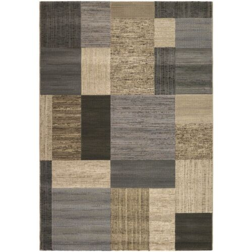 Couristan Everest Geometrics Tan & Teal Area Rug