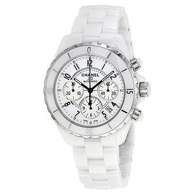 Chanel J12 Chronograph White Ceramic Unisex Watch H1007