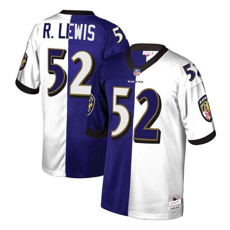 Mitchell & Ness Split Home & Away Legacy Jersey Baltimore Ravens ...