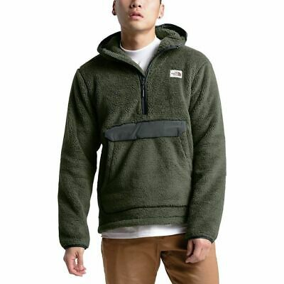 North Face Campshire Pullover Hoodie Green Asphalt Sherpa Fleece Relaxed XXL 2XL